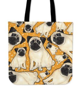 Pug Canvas tote bag