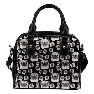 black Pug multi face bag