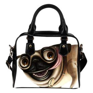 evil pug shoulder bag