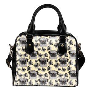 yellow Pug multi face bag