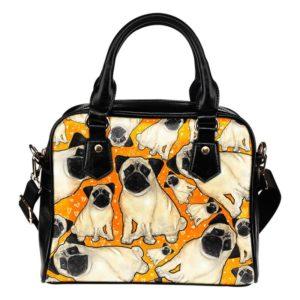 yellow pug shoulder bag